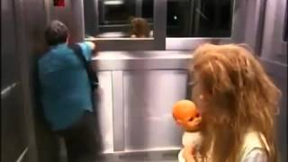 прикол, ужасы в лифте.