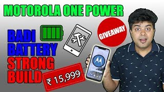 Giveaway, Motorola One Power, Unboxing, Honest Review, Bahubali Battery