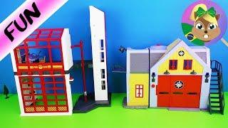 Estação quartel do Bombeiro Sam vs. Estação quartel de Bomebiro Playmobil | Brinquedos de bombeiro