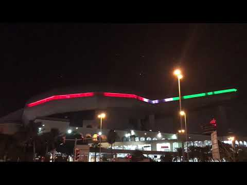 The Lights show at ski dubai in the mall of emirates, al barsha , Dubai , United Arab Emirates.