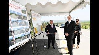 В Гобустанском района президент Азербайджана и первая леди приняли участие в открытии ряда объектов