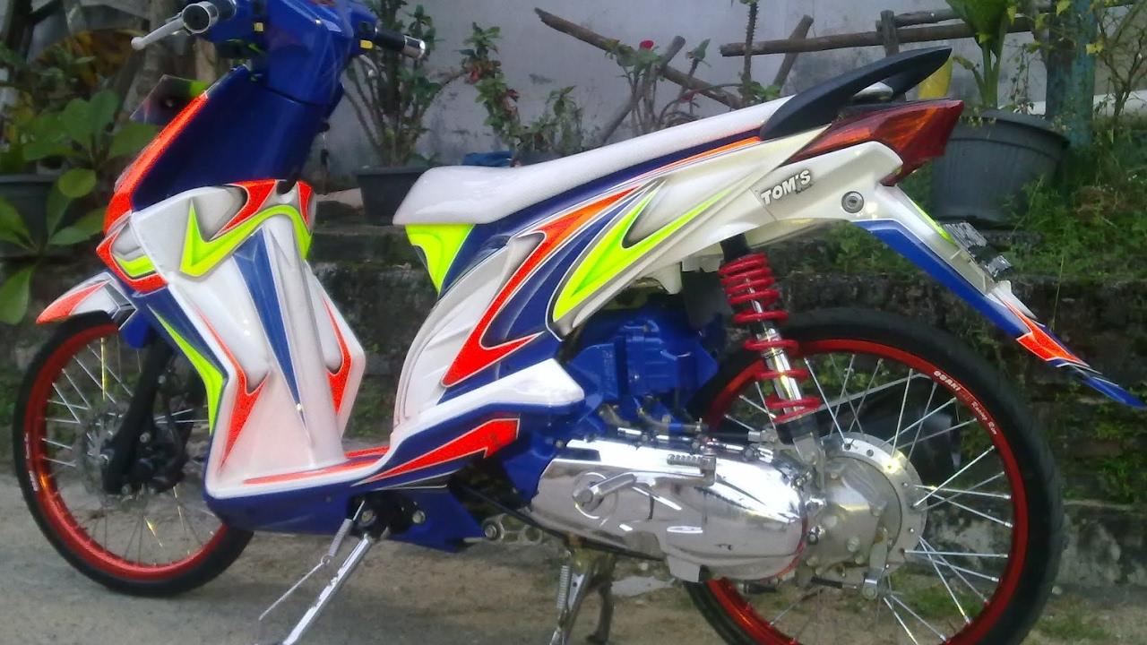 108 Modifikasi Motor Beat Putih Velg 17 Modifikasi Motor Beat