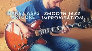 Ibanez AS93 Artcore Semi-Hollowbody & TC Ditto Looper X2 Test // Smooth Jazz/Blues Improvisation
