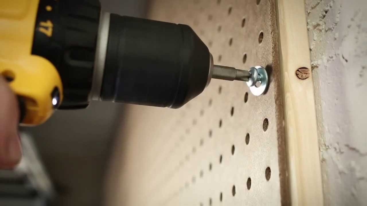 "garage workshop bench ideas - HouseSmarts DIY Smarts ""Pegboard on Concrete"" Episode 118"