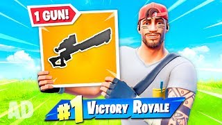 the 1 GUN CHALLENGE in Fortnite!