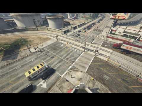 Gta V railroad crossing CCTV Live