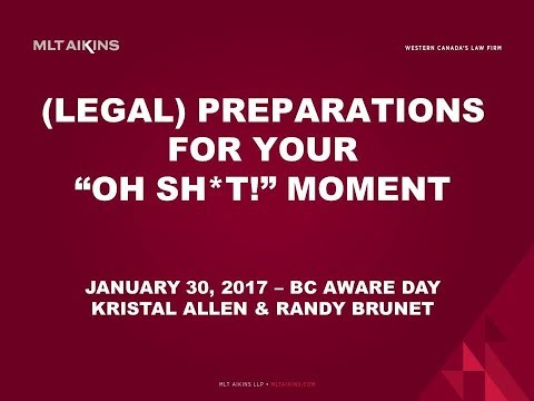 "Legal Concerns: Preparing for and Facing your ""Oh Shit!"" Cybersecurity Breach Moment"