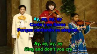 Cielito Lindo - karaoke - to learn Spanish lyrics (with English translation)