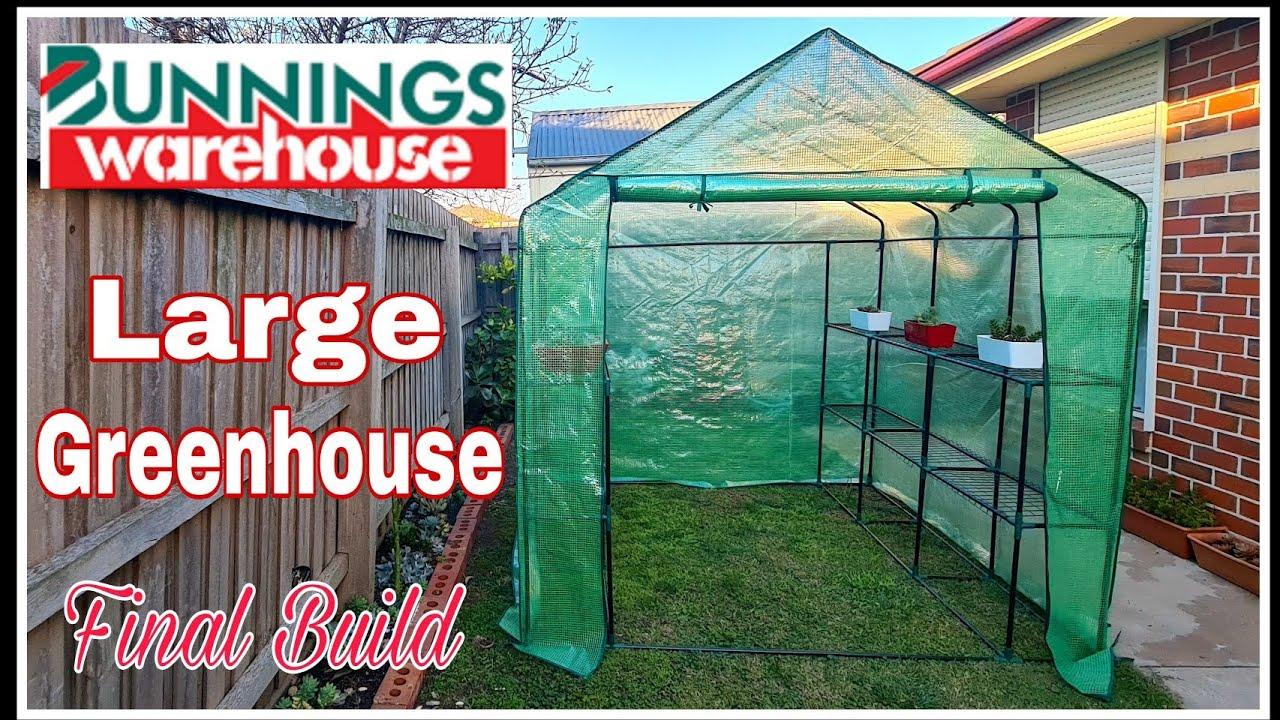 How To Build A Greenhouse Large Walk In Greenhouse Bunnings Greenhouse Youtube Backyard farmer greenhouse bunnings