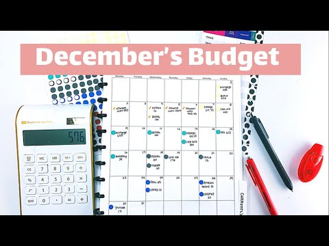 Monthly Budget With Me: December 2019 #budgetplanner #adulting201 thumbnail