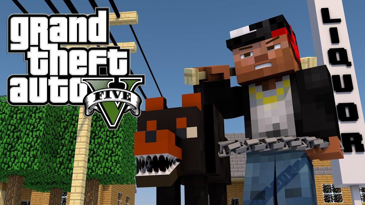 Minecraft GTA V Grand Theft Auto V Mod Ep GTA YouTube - Minecraft spiele mit autos