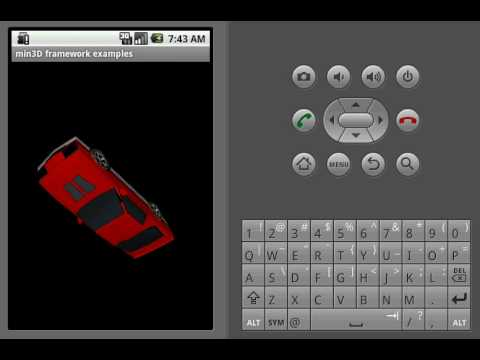 Load a 3D Obj model with the min3D framework for Android