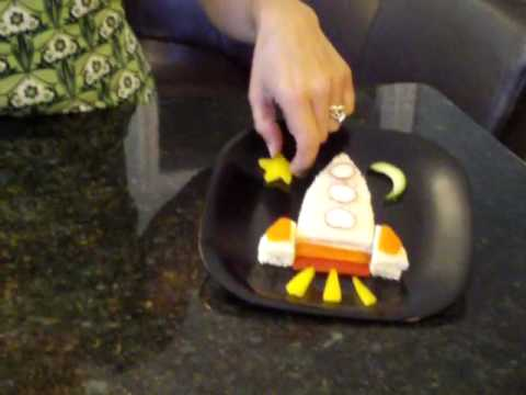Rocket Ship Kids Sandwich with Vegetables - YouTube