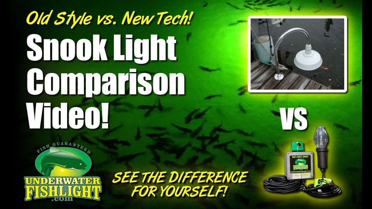 fish light comparison - green underwater dock lights vs.old, Reel Combo