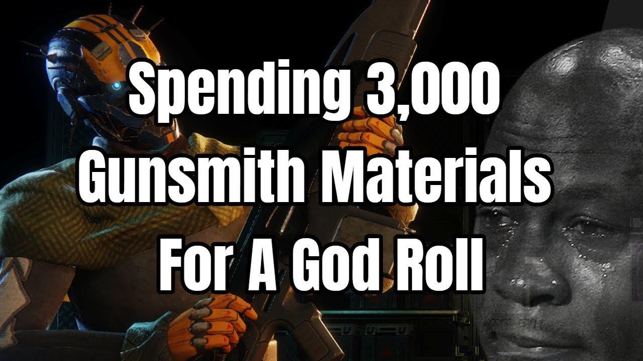 Spending 3,000 Gunsmith materials for a God Roll - Destiny 2