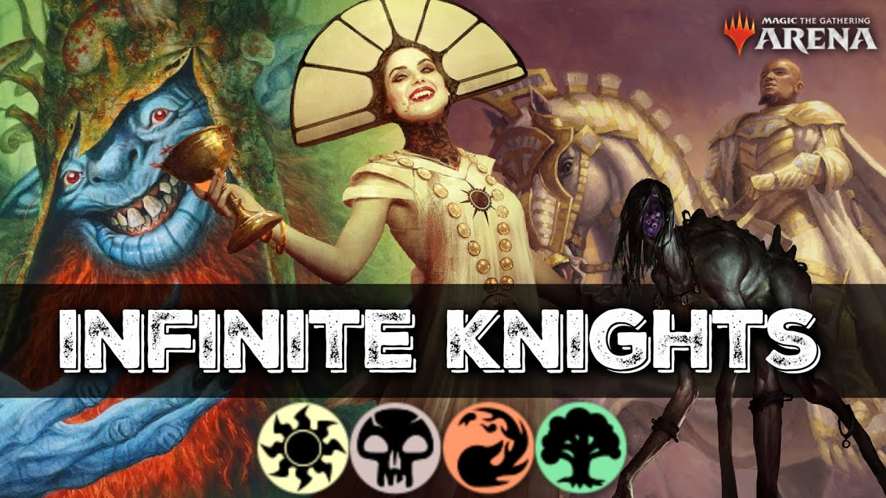 INFINITE DAMAGE & KNIGHTS Combo Showcase & Deck Tech | MTG Arena M21 Deck