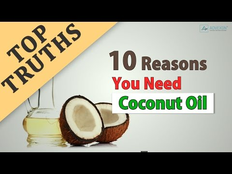 Top 10 Reasons You Need Coconut Oil (Organic+Extra Virgin+Cold Pressed+Unrefined)