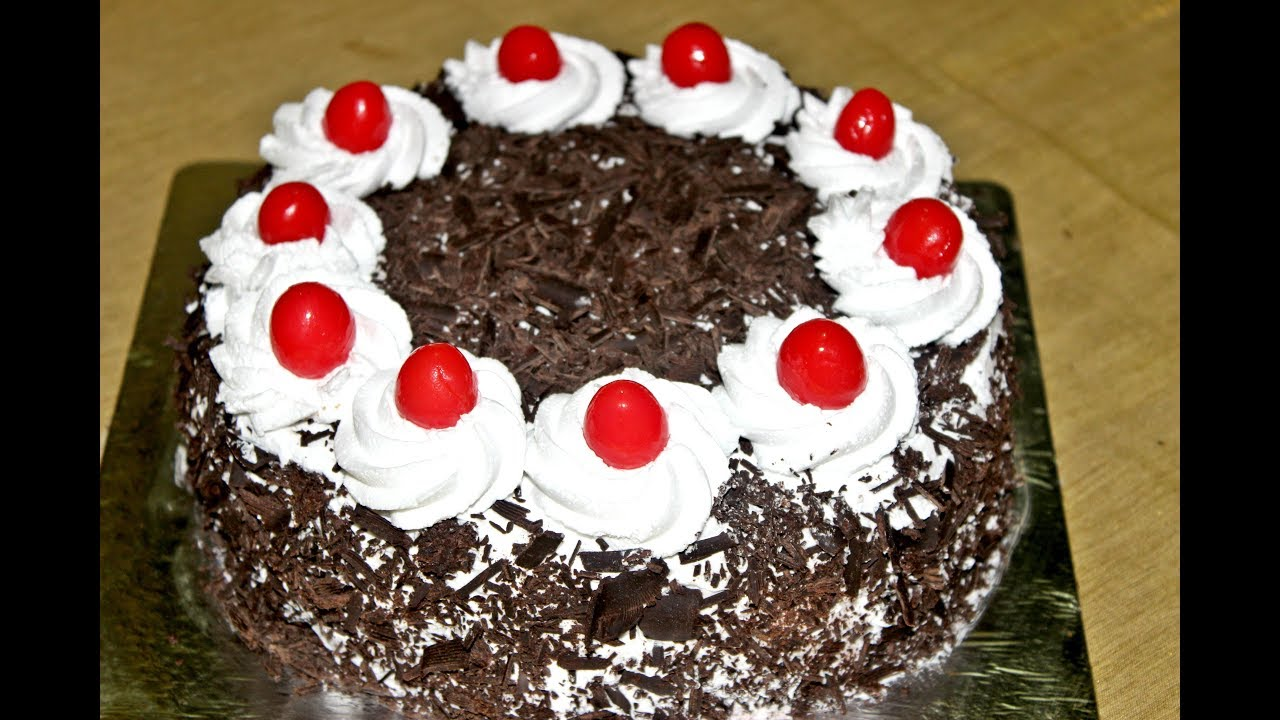 Eggless Cake Recipe In Marathi With Oven: Black Forest Cake Recipe Without Oven Eggless/Perfect