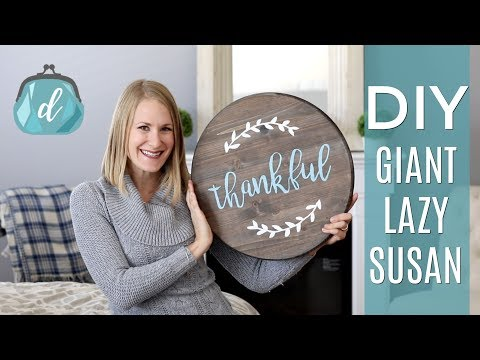 DIY GIANT LAZY SUSAN ❤️ Wood Pallet Art Farmhouse Style Decor