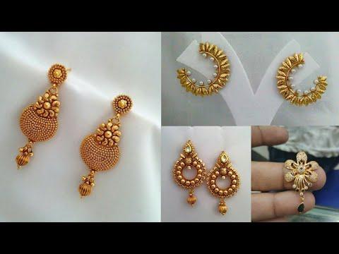 Daily Wear Simple Gold Earrings Design Ideas Beautiful Video Enjoyment