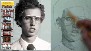 How to Draw Napoleon Dynamite Step by Step