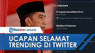 #CongratsJokowiMarufAmin Trending Topic di Twitter Jelang Pelantikan Presiden & Wakil Presiden RI
