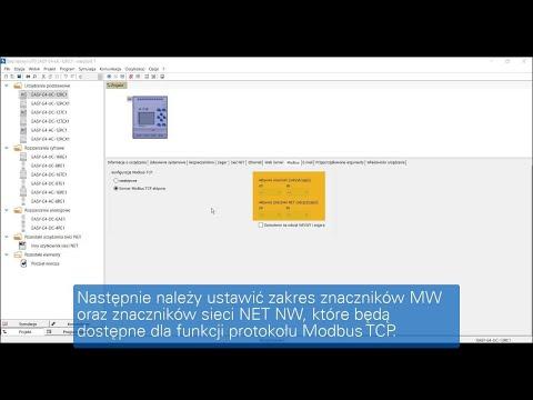 easySoft  Konfiguracja ModbusTCP w sterowniku easyE4