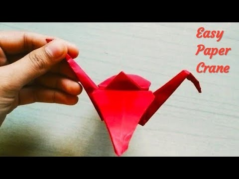 How to make Origami Paper Crane |Paper Bird 🐦| DIY Paper Crafts