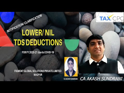 Notification/Clarification For TDS Lower Deduction/NIL Deduction Certificate