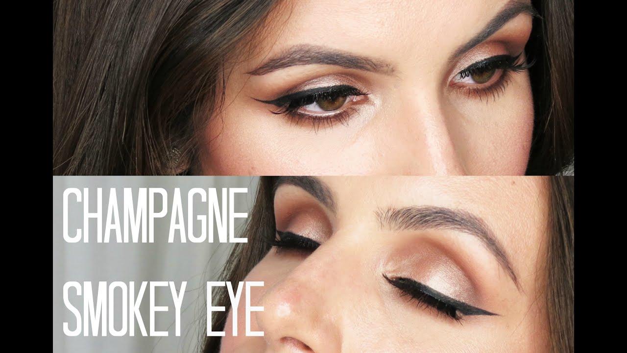 Champagne smokey eye too faced chocolate bar tutorial youtube champagne smokey eye too faced chocolate bar tutorial baditri Images
