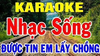 Karaoke Nhạc Sống Nhạc Vàng Trữ Tình Hòa Tấu | Liên Khúc Rumba Được Tin Em Lấy Chồng | Trọng Hiếu