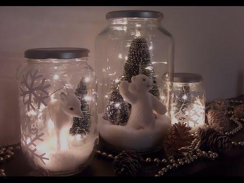 Déco de Noël DIY : Bocaux lumineux