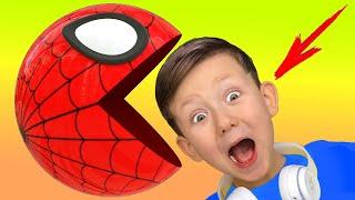 What does Spider Man do at Senya's home? Senya and his adventures