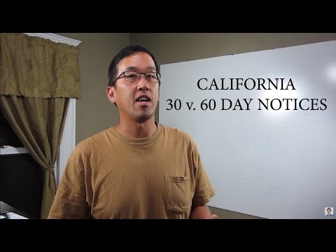CA Residential Landlord-Tenant - 30 v. 60 day Notices - The Law Offices of Andy I. Chen