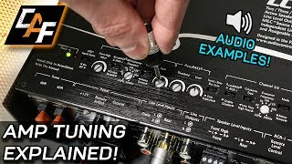 Video Amplifier Tuning Settings How To - Gain, Crossovers, Bass Boost download MP3, 3GP, MP4, WEBM, AVI, FLV Agustus 2018