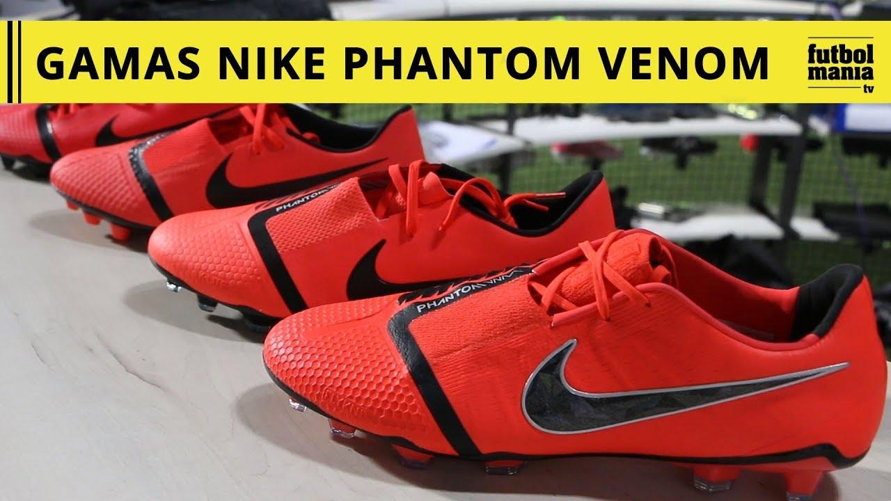 Incorrecto líder Revolucionario  Gamas Nike Phantom Venom - YouTube