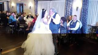Shannon with the grandfather of the bride