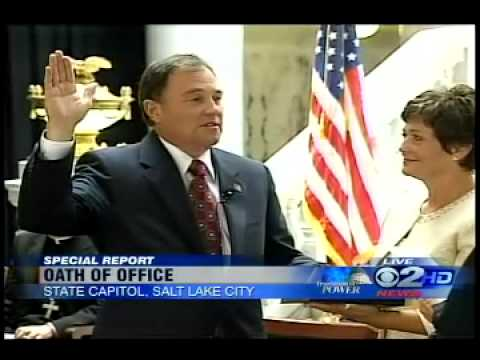 Gary Herbert Sworn in as Governor of Utah