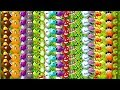 Every Plant MAX LEVEL - All Tiles POWER-UP! Primal Plants vs Zombies 2 Ultimate Power PVZ 2
