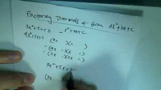 factoring polynomials of the form ax 2 bx c
