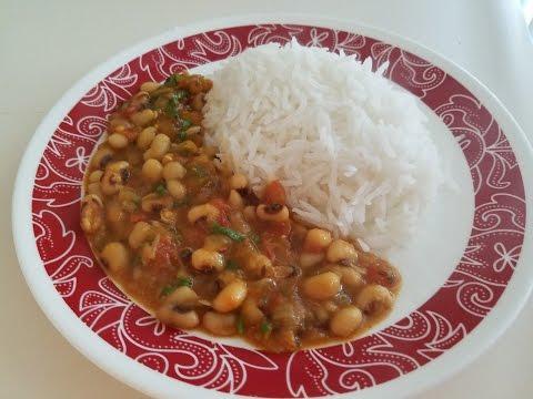 Easy Black eyed beans Indian recipe