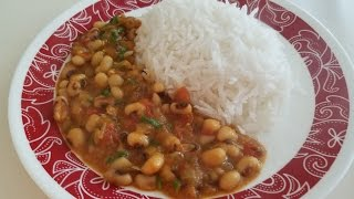 Easy Black eyed beans Indian recipe
