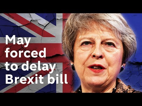 May forced to delay Brexit bill publication