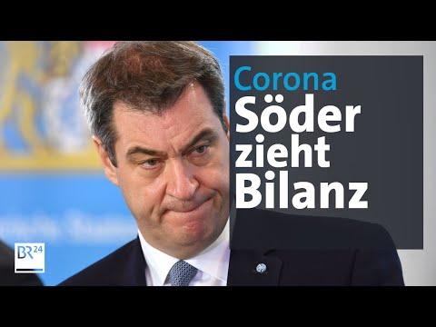 Pressekonferenz mit Markus Söder zu Corona-Maßnahmen   BR24