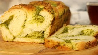 """Хлебная Плетёнка с Соусом """"ПЕСТО"""" / Pesto Soslu Ekmek Tarifi / Pesto Sauce Bread Recipe"""
