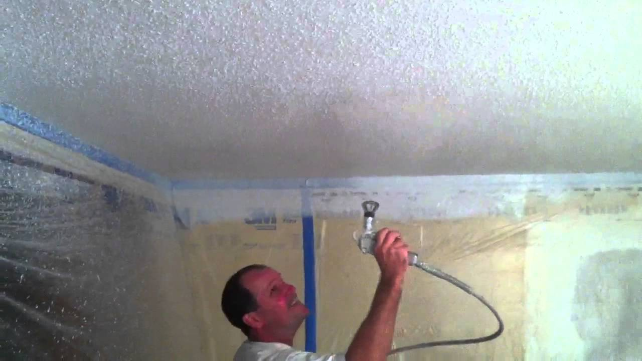Spray On Plaster For Walls : Spray paint ceilings step by https