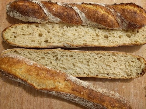 Cold bulk and cold final proof spelt baguette shaping  冷藏法棍整形與結果