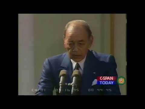 King HASSAN II & Bill CLINTON: Press Conference on Syria, Palestine, Israel | US-Morocco Relations
