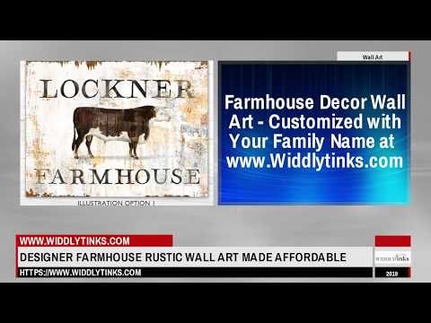 Widdlytinks.com Rustic Farmhouse Decor Wall Art Customized Family Name Wall Signs