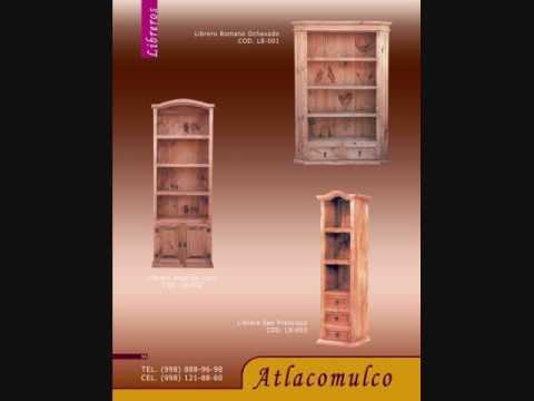 Sala libreros computo esquineros mesas de centro - Muebles de chimenea ...